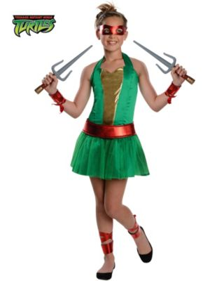 Teenage Mutant Ninja Turtles Raphael Tween Girl Costume