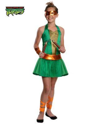 Teenage Mutant Ninja Turtles' Michelangelo Tween Girl Costume