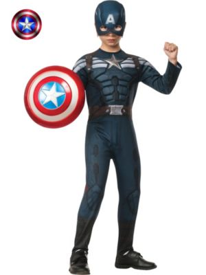 Child Deluxe Captain America 2 Winter Soldier Stealth Muscle Costume