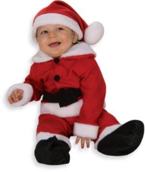 Infant Toddler Fleece Santa Suit with Belt
