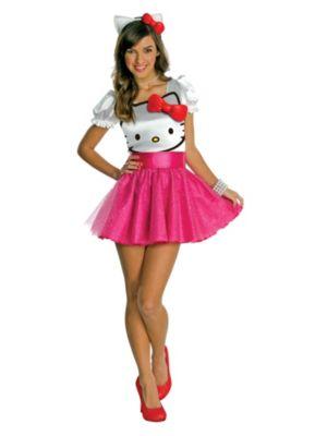 Hello Kitty Tutu Dress Teen Costume