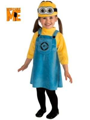 Toddler Girl's Minion Costume