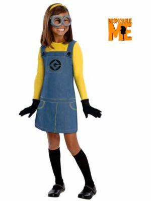 Despicable Me Child Female Minion Costume