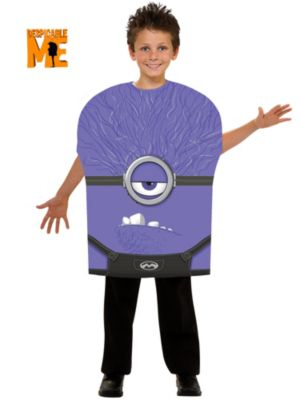 Purple Minion Halloween Costume For Kids Purple Minion Kids Costume