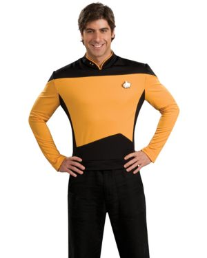 Deluxe Star Trek The Next Generation Adult Gold Shirt