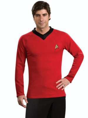 Classic Star Trek Deluxe Adult Red Shirt