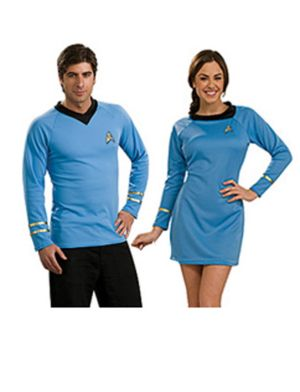 Classic Womens Star Trek Blue Couple Costume