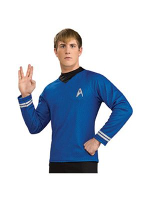 Star Trek the Movie Adult Deluxe Blue Shirt