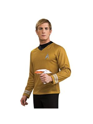 Star Trek the Movie Adult Deluxe Gold Shirt