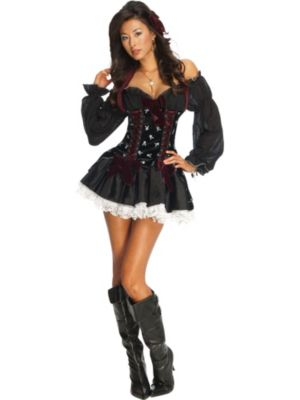 Sexy Swashbuckler Playboy Womens Pirate Costume