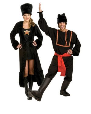 Adult Black Russian Couples Costume