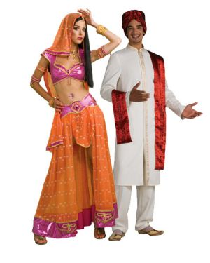Sexy Bollywood Dancer Womens Couples Costume