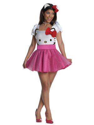 Sexy Adult Hello Kitty Tutu Dress Costume