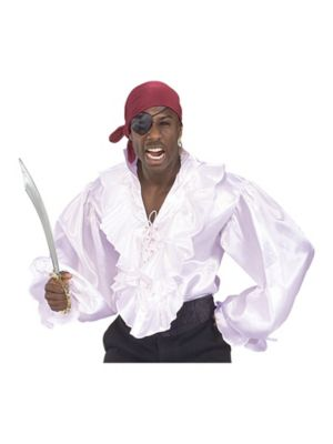 Adult Pirate Shirt In Satin