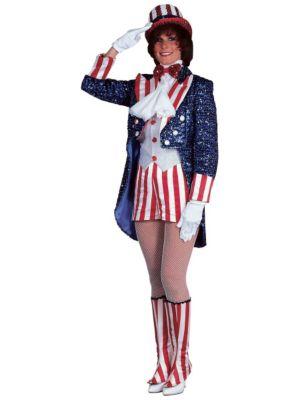 Adult Sequin Miss Uncle Sam
