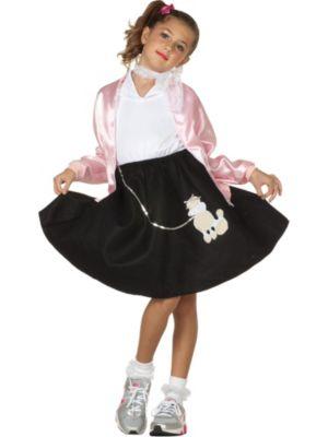 Child Black Poodle Skirt Costume