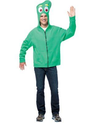 Gumby Halloween Costume Men's Gumby Hoodie Costume