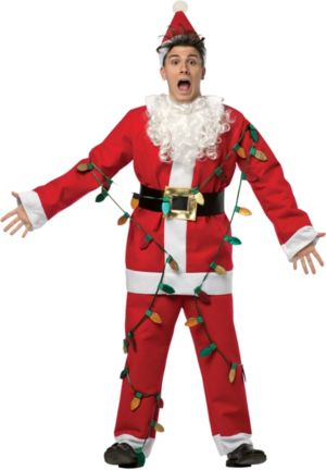 Adult National Lampoon's Christmas Vacation Light-Up Santa Suit