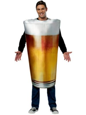 Unisex Adult Pint Glass Costume