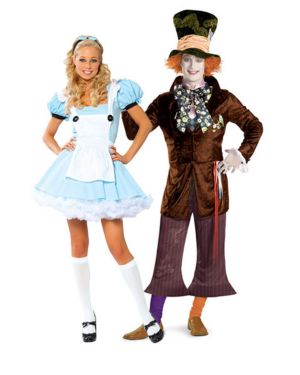 Sexy Alice In Wonderland Womens Couples Costume