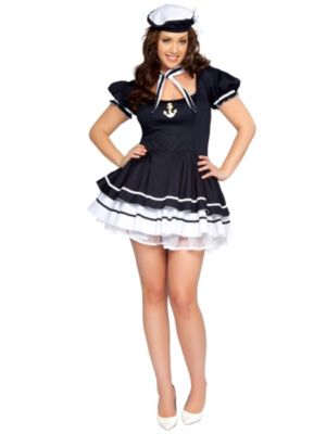 Sexy Plus Size Sailor Sweetie Adult Costume
