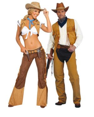 Wild West Sexy Cowgirl Sheriff Adult Couples Costume
