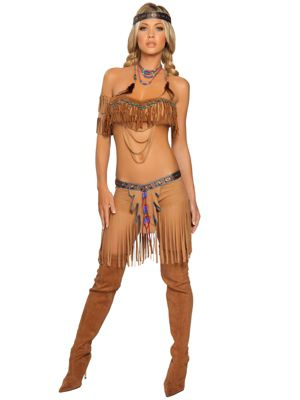 Sexy Cherokee Warrior Indian Womens Costume