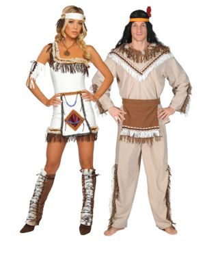 Adult Sexy Indian Chief Couples Costume