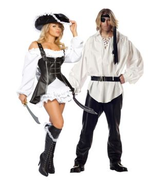 Sexy Pirate Maiden Womens Couples Costume