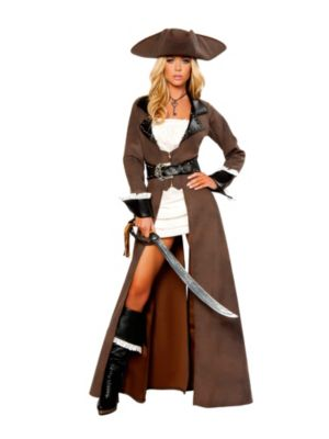 Adult Sexy Deluxe Pirate Captain Costume