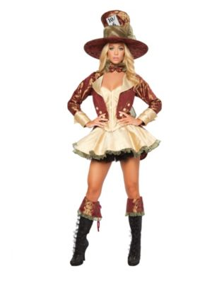 Adult Sexy Deluxe Tea Party Hatter Costume