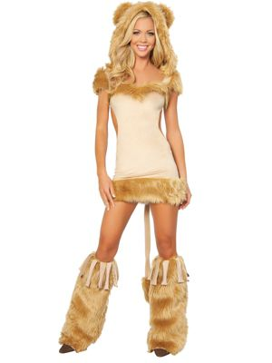 Adult Sexy Courageous Lion Costume