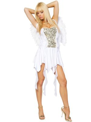 Adult Sexy Heavenly Hottie Angel Costume