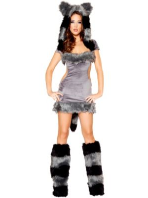 Sexy Naughty Raccoon Deluxe Women's Costume