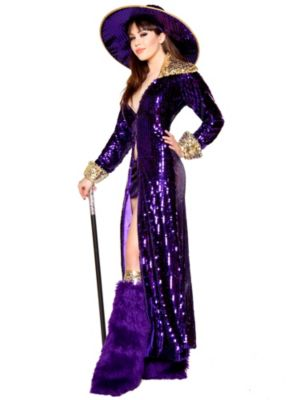 Sexy Flashy Pimp Deluxe Women's Costume