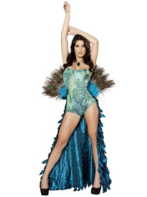 Sexy Adult Deluxe Pretty Peacock Costume