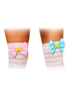 Women's Clown Stocking Bows