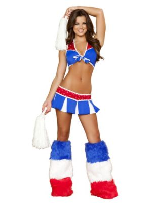 Adult Sexy Charming USA Cheerleader Costume