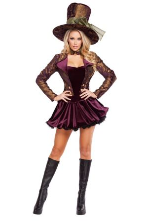 Sexy Adult Tea Party Tease Costume