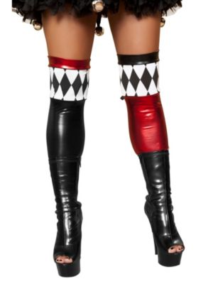 Women's Jester Thigh High Stockings