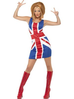 Adult Sexy Union Jack Dress Costume