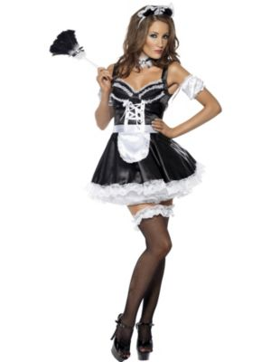 Sexy Adult Flirty French Maid Costume