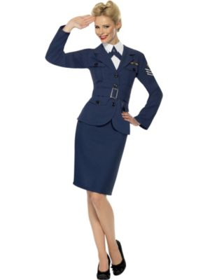 Adult WW2 Air Force Female Captain Costume