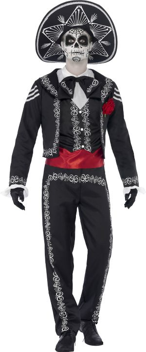 Adult Day of the Dead Senor Bones Costume