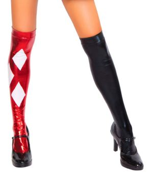 Black and Red Clown Over the Knee Stockings