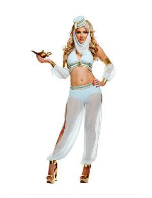 Adult Deluxe Sexy Deluxe Dreamy Genie Costume