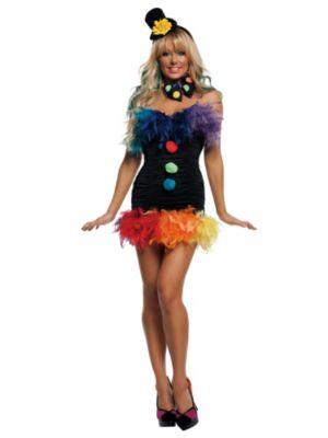 Adult Sexy Clownin' Around  Clown Costume