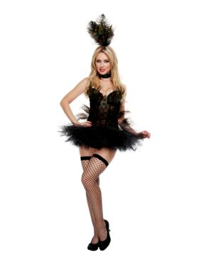 Adult Deluxe Sexy Exotic Peacock Costume
