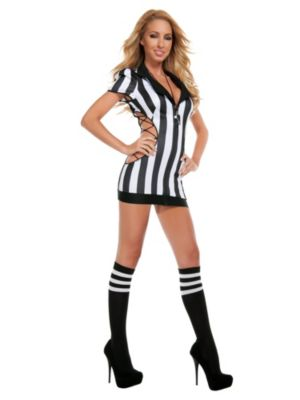 Adult Sexy Cut-Out Referee Costume