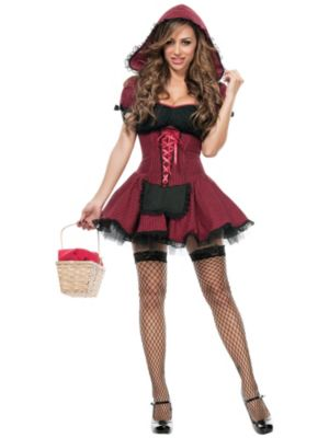Sexy Adult Red Hot Riding Hood Costume